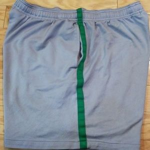 Fitness Gear Gray with Green Stripe Shorts
